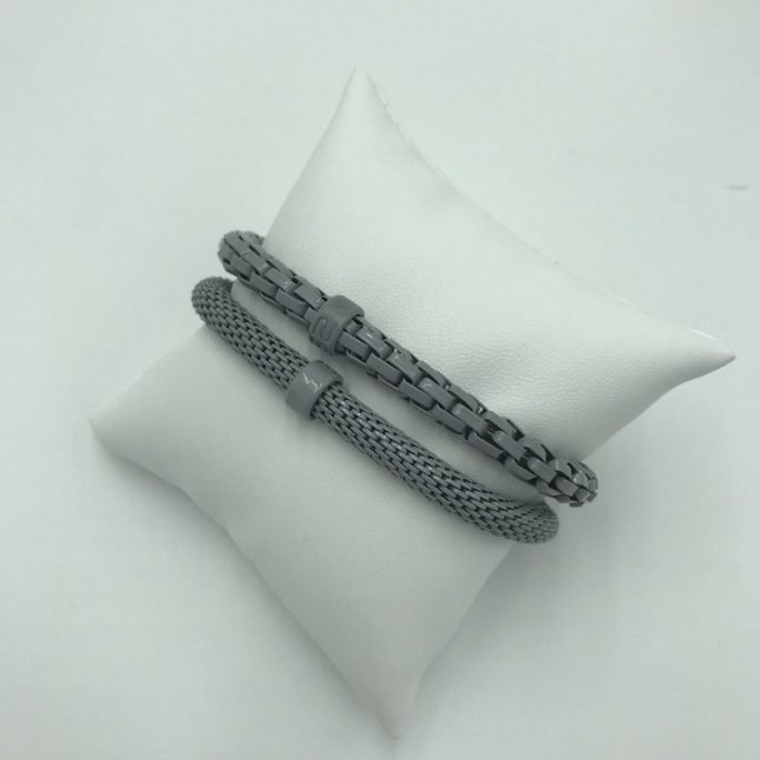 vista frontal pulsera snake mix gris