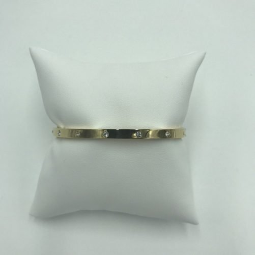 vista frontal pulsera bangle cristal