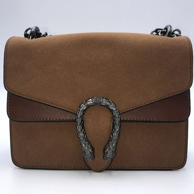 bolso charm brown vista frontal